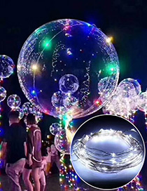 Trendy White Ball Shape Design Led Light Balloon(without Battery)