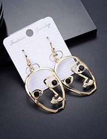 Personality Black Mask Shape Decorated Earrings