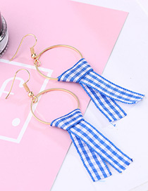 Fashion Blue Color-matching Decorated Earrings