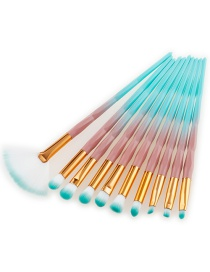 Fashion Blue+white Color-matching Decorated Brushes (10pcs)