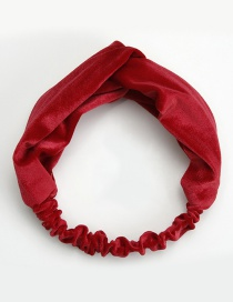 Elegant Red Pure Color Decorated Hair Band