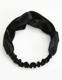 Elegant Black Pure Color Decorated Hair Band