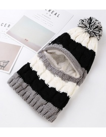 Trendy Gray Fuzzy Ball Decorated Simple Cap
