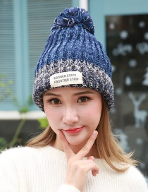 Fashion Navy The Letter Patch Decorated Hat