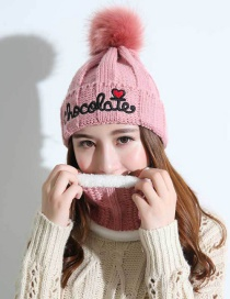 Fashion Pink Heart Shape Decorated Cap