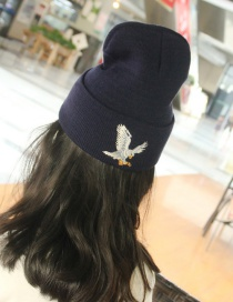 Lovely Navy Eagle Shape Decorated Cap