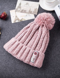 Fashion Pink Patch Shape Decorated Cap
