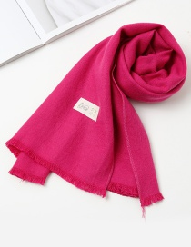 Fashion Plum Red Pure Color Decorated Baby Scarf