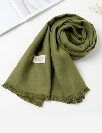 Fashion Dark Green Pure Color Decorated Baby Scarf