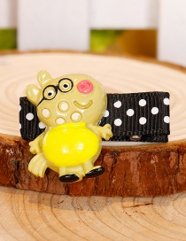 Fashion Yellow Pig Shape Decorated Hair Clip