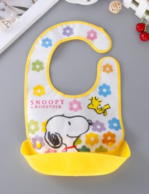 Fashion Yellow Dog Pattern Decorated Bib