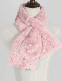Lovely Pink Mickey Shape Decorated Scarf