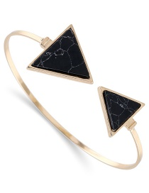 Fashion Black Biger Triangle Shape Decorated Opening Bracelet