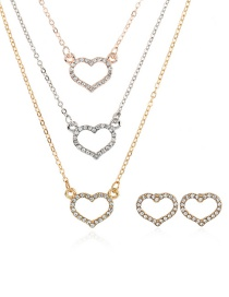 Fashion Gold Color Heart Shape Decorated Necklace