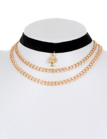 Fashion Gold Color Tree Shape Decorated Choker
