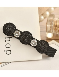 Fashion Black Pure Color Decorated Hair Clip