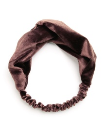 Fashion Dark Coffee Pure Color Decorated Headband