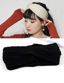 Fashion Black Pure Color Decorated Headband