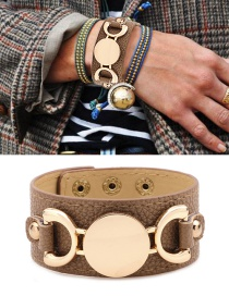 Fashion Khaki Letter Pattern Decorated Bracelet
