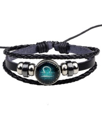 Fashion Black Libra Pattern Decorated Bracelet
