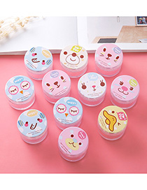 Fashion Multi-color Round Shape Decorated Storage Box (2pcs Randomly )