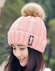Fashion Pink Letter Patch Decorated Hat