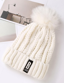 Fashion White Pure Color Decorated Hat