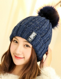 Fashion Navy Letter Patch Decorated Hat