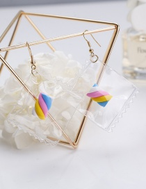 Fashion Multi-color Candy Shape Decorated Earrings