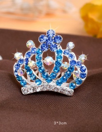 Lovely Blue Flower Shape Decorated Hairpin