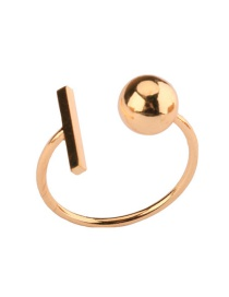 Fashion Gold Color Ball Decorated Pure Color Ring