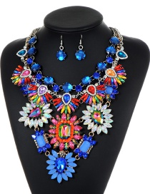 Trendy Multi-color Geometric Shape Diamond Decorated Jewelry Sets