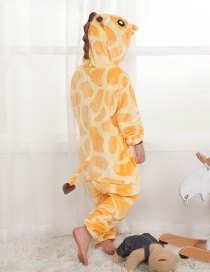 Lovely Yellow Giraffe Decorated Children Pajamas