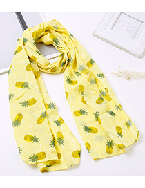 Lovely Yellow Pineapple Pattern Decorated Child Scarf(1-12 Years Old)