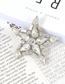 Fashion White Star Shape Decorated Simple Brooch