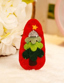 Fashion Red+green Tree Shape Decorated Christmas Hairpin