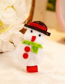 Fashion White+green Santa Claus Decorated Christmas Hairpin