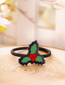 Fashion Green+red Leaf Shape Decorated Christmas Hair Band
