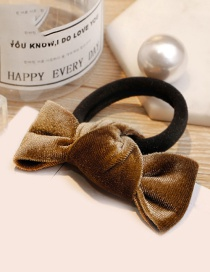 Fashion Light Brown Bowknot Shape Decorated Hair Band