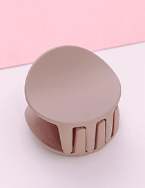 Fashion Beige Round Shape Decorated Hair Claw