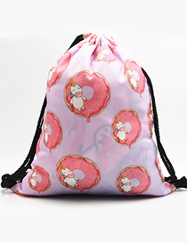 Lovely Pink Donuts&unicorn Pattern Decorated Backpack