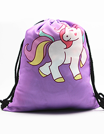 Lovely Purple Unicorn Pattern Decorated Backpack