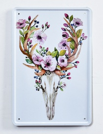 Fashion Multi-color Flower &cattle Pattern Decorated Hang Painting