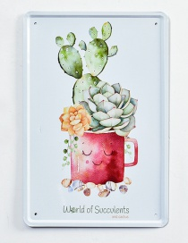 Fashion Red+green Cup Pattern Decorated Hang Painting