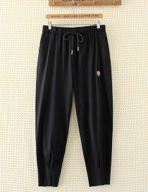 Pantalones De Color Puro De Moda