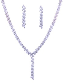 Elegant Silver Color Pure Color Decorated Jewelry Sets