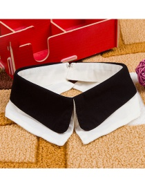 Fashion Black Color Matching Decorated Fake Collar