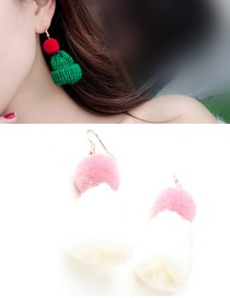 Fashion White Hat Shape Decorated Earrings