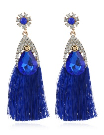 Bohemia Blue Waterdrop Shape Decorated Jewelry Sets