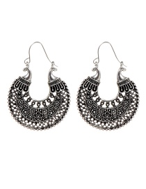 Fashion Silver Color Flower Shape Decorated Earrings